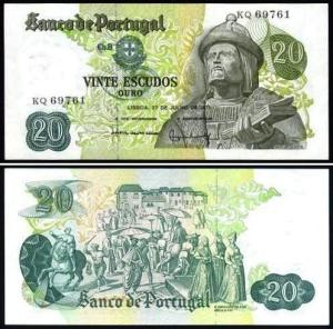The Portuguese government honored Garcia with a 20 Escudos note.