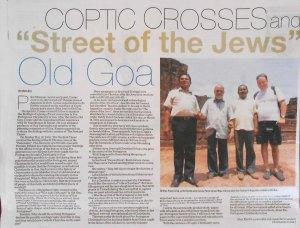 "An article about ""Rua Dos Judeas' in ancient Ela (Old Goa)."