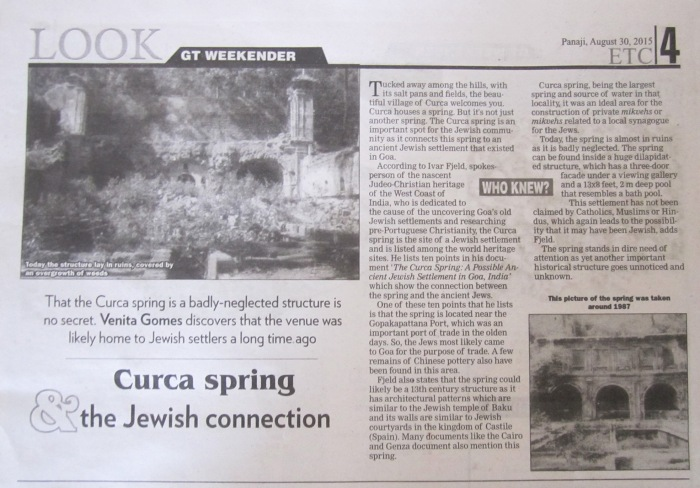 The Curca Spring lies neglected and in ruins.