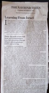 An Editorial in Navhind Times call on the leaders of Goa.