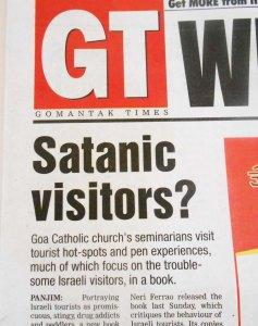 Antisemitism in the present Roman Catholic church in Goa.