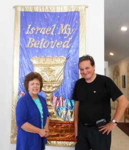 At the HQ of Christian Friends of Israel (CFI) in Jerusalem.