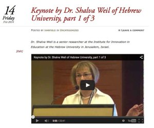 Dr. Shalva Weil from the Hebrew University in Jerusalem was the key note speaker.